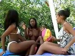 Playful lezzies love to taste cunts black lesbian porn