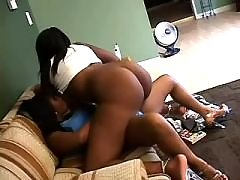 Interracial babes caress each other black lesbian porn